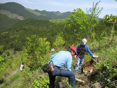 雲出川「山川海ネットワークの森」植栽事業の参加者募集
