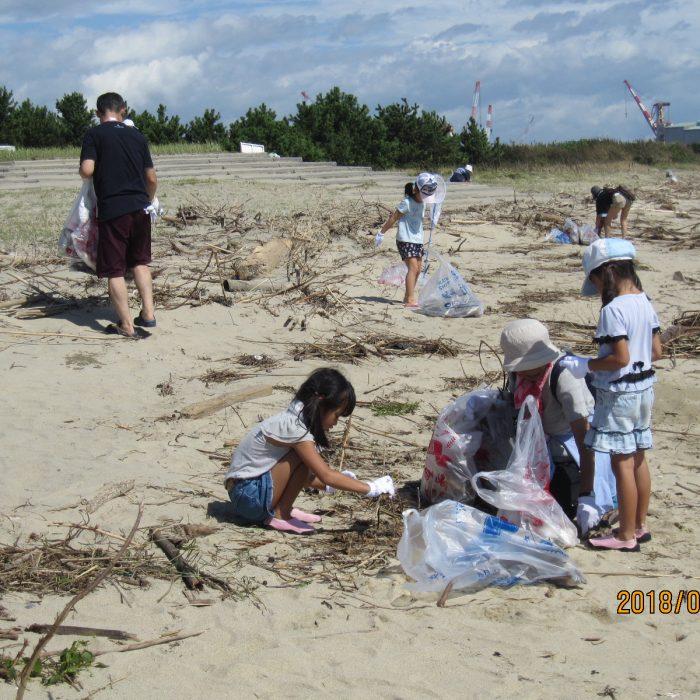 香良洲海岸清掃&魚つかみ取り大会